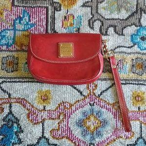 Dooney & Bourke Wristlet red